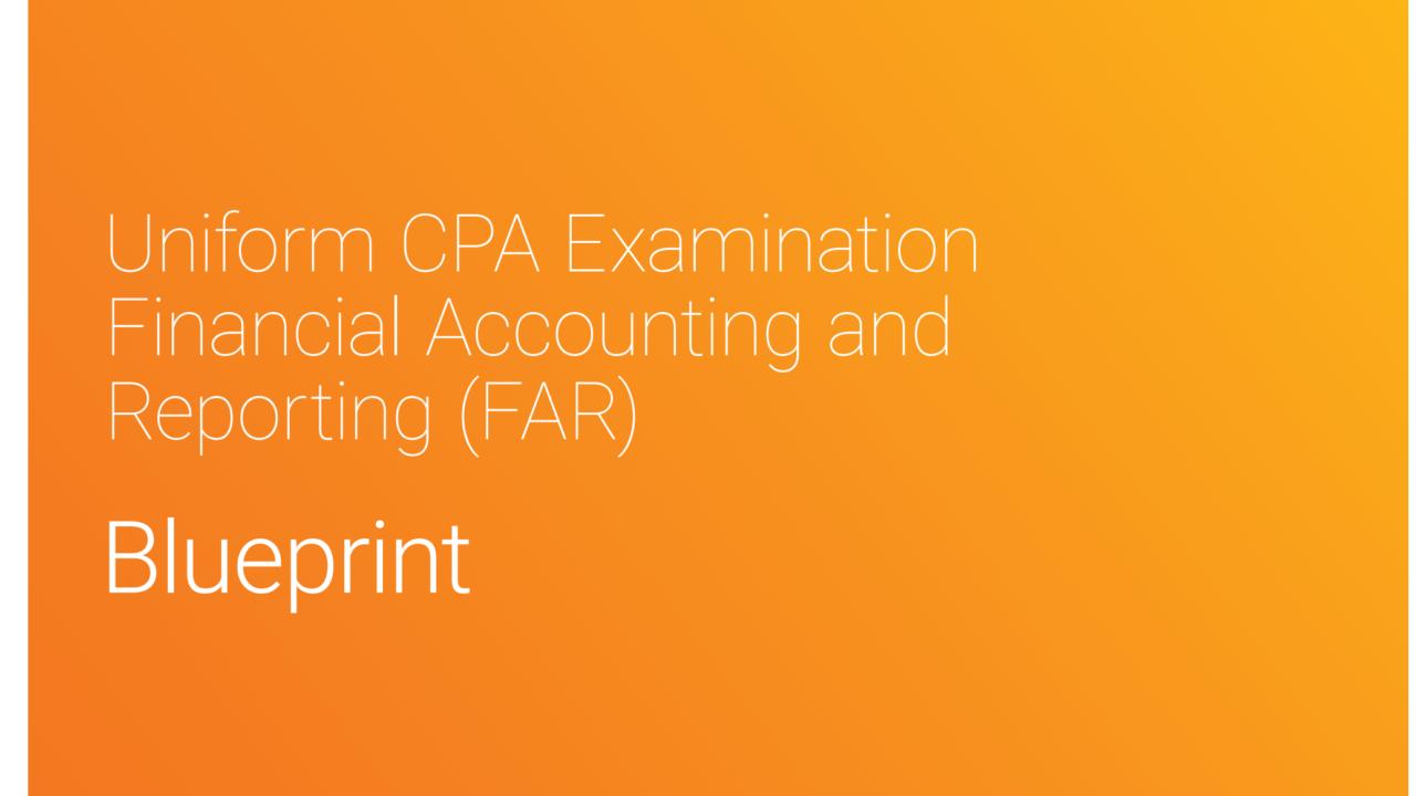 【2021年7月改正後】USCPA試験 FAR Blueprintsの内容